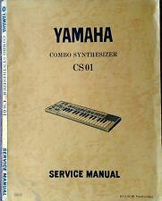 Yamaha CS01 Combo Synthesizer Original Service Manual, Schematics, Parts List