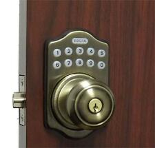 Digital Keyless Electronic Door Lock Knob AB Touchpad Code Remote CAPABLE