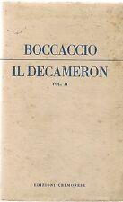 IL DECAMERON - GIOVANNI BOCCACCIO - VOL II° - ED. CREMONESE