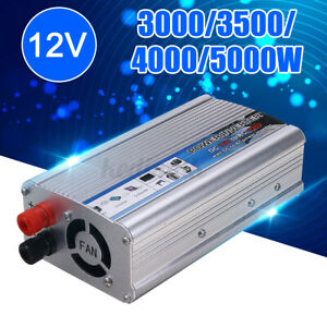 6000W Peaks Power Inverter Car Power Solar Converter Sine Wave 12V DC TO 220V AC