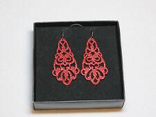 Ladies Womens Avon dangle earrings Sparkling Red NIB;;