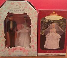 Barbie Keepsake Ornaments (2) Bride and Bride & Groom