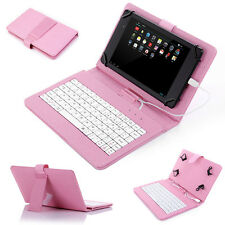 PU Leather Stand Case Cover with USB Keyboard for 7 inch Android Tablet PC Tab