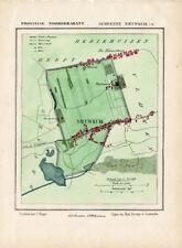 ANTIQUE MAP-NETHERLANDS-NIEUWKUIK-NOORD BRABANT-KUYPER-1865