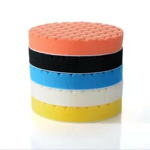 5Pcs 5inch Buffing Sponge Polishing Pad Kit Waxing For Car Polisher