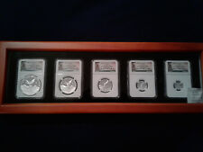 2016 Mexico Proof Silver Libertad Onza - Set of 5 Coins NGC PF70 UC with Box!