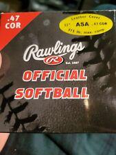 "11"" Asa Rawlings Yellow Softballs Asa11y47L 375lb Compression 47cor (lot of 2)"