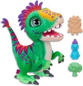 Hasbro E0387 FurReal- Munchin' Rex Dinosaur inc Treats- Plush Pets- Interactive