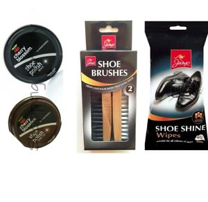 Shoe Shine WIPES Shoe Brushes Kit Shoe Cherry Blossom Traditional Shoe polish
