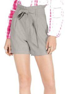 INC Women's Dress Shorts Beige Size Medium M Paperbag Waist Belted $54 #115