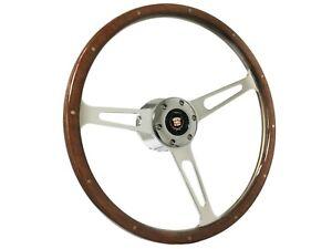 1969 - 1989 Cadillac S6 Classic Walnut Wood Steering Wheel Kit with Telescopic