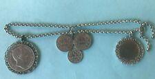 4v5:Silber Miederanhänger Münzen Tracht Erbskette Trachtenschmuck Bayern ab 1855