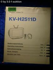 Sony Bedienungsanleitung KV H2511D Color TV (#2024)