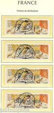 Y&T 832 à 835 France ATM LISA Elisée de 2010 4x divers val. obli. 1er jour