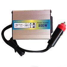 Invertitore 200w (12v DC->220v AC) USB Inverter accendisigari auto