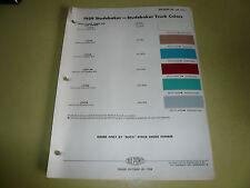1959 Studebaker DuPont Duco DuLux Color Chip Paint Sample - Vintage