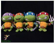 TMNT Ninja Turtles Plush Figure Set- Raphael, Leonardo, Donatello, Michelangelo