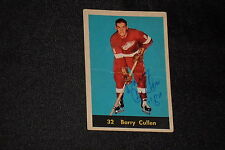 BARRY CULLEN 1960-61 PARKHURST SIGNED AUTOGRAPHED CARD #32 RED WINGS