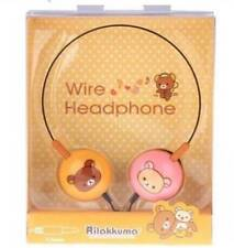 Kawaii SAN X Rilakkuma + Korilakkuma Wire Head Phones! Rare!