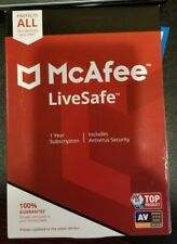 Mcafee LiveSafe 2020 1 Year Unlimited Devices *DOWNLOAD VERISION**25 DIGIT KEY*