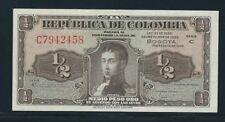 COLOMBIA BANKNOTES  HALF PESO 1953 C SERIES