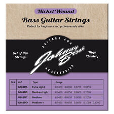 Johnny Brook High Quality Medium Nickel Wound Bass Guitar String Strings- 5 Pack