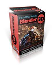 Blender 3D Modelling Design-Animation Software - Windows/Mac-BOTH versions incl
