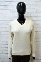 Maglione Bianco Donna JECKERSON Taglia XL Pullover Sweater Woman White Cardigan