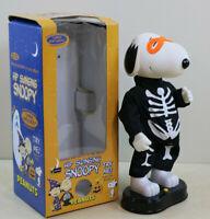 Rare Gemmy Animated Peanuts SNOOPY Halloween Skeleton  Hip Swinging Dancing