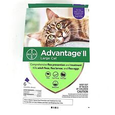 Advantage II 6-Dose Large Cat Flea Prevention Flea Prevention for Cats Over 9