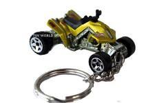 Custom Key Chain ATV Yamaha Raptor / Honda TRX type 4 Wheeler lime-green