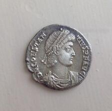Roman silver coin silliqua constantius.