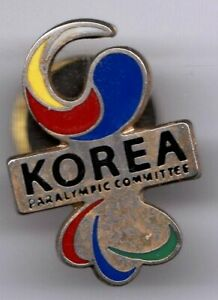 UNDATED PARALYMPIC GAMES PIN. NOC. PARALYMPIC COMMITTEE OF S. KOREA. SMALL PIN