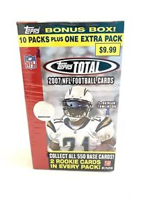 007 Topps Total Hobby Football Blaster Box - 11 Packs with 2 Rookies per Pack!