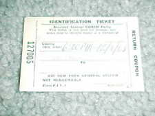 1963 Detroit Lions v Cleveland Browns ID Football Ticket 12/8