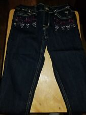 Lot of 2 pair of Justice for Girls Premium Jeans - Size 8 - Brand New with tags