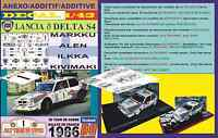 ANEXO DECAL 1/43 LANCIA DELTA S4 MARKKU ALEN TOUR DE CORSE 1986 (01)