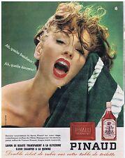 PUBLICITE ADVERTISING 104 1963 PINAUD savon de beauté et elixir de shampoo