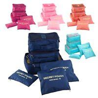 6 Pcs Clothes Underwear Socks Packing Cube Storage Travel Luggage Organizer Bag