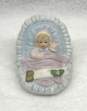 Enesco 1983 Growing Up Birthday Girls Baby Blonde Vintage Figurine Collectible