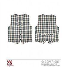 Beige Tartan Vest Costume For Scotland Scottish St Andrew's & Hogmanay Fancy -
