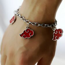 Naruto Akatsuki Red Cloud Bracelet Uchiha Sasuke Madara Itachi Necklace Hot Sale