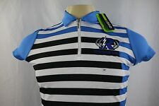 New Izod Golf Embroidered Thunder Golf Women's Active Short Sleeve Polo Top Sz S