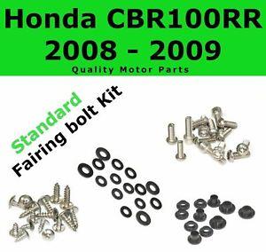 Fairing Bolt Kit body screws fasteners for Honda CBR 1000 RR 2008 2009 Stainless