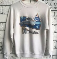 Very rare Vintage 1986 Star Tours Disneyland Crewneck Sweatshirt- White size L