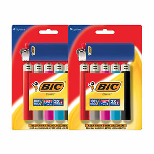 BIC Classic Lighter, Assorted Colors, 12-Pack