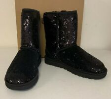 New in Box UGG Women's Classic Short Cosmos Boots, 1103796, Black Size 9M