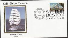 KAPPYSSTAMPS 5816 USA BOSTON TALL SHIPS SAIL IN 2000 KAIWO MARU JAPAN