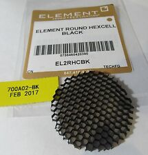 "TECH LIGHTING- ELEMENT EL2RHC 2"" ROUND HEXCELL/ EGGCRATE LOUVER 700A02-BK BLACK"
