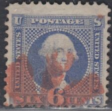 USA Scott #115 6ct 1869 Pictorial Used Red Fancy Cancel  CV $300